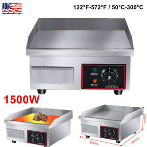 1500w Commercial Electric Countertop Griddle Flat Top Grill Hot Plate Bbq Tools