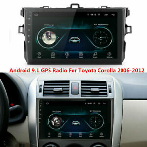 9 Car Dvd Stereo Radio Player Gps Navi Wifi For Toyota Corolla 2006 2012