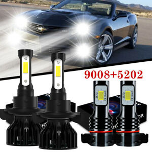 For 2010 2013 Chevrolet Camaro Combo H13 Led Headlight 5202 Foglight Bulbs 6000k