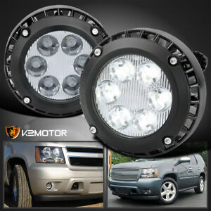 For 2007 2014 Chevy Tahoe Suburban Gmc Yukon Xl 1500 Led Fog Lights Bumper Lamps