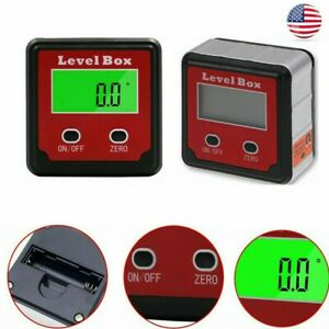 Electronic Digital Protractor Inclinometer Magnetic Level Case Measuring Tools