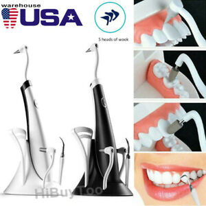 5 In 1 Sonic Dental Tartar Scaler Plaque Remover Teeth Whitening Cleaning Tools