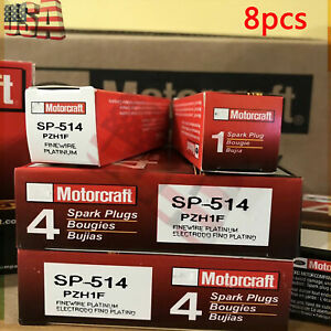 8pcs Fits For Ford Motorcraft Platinum Spark Plugs Sp 547 Pzk1f Pzh1f Sp 514