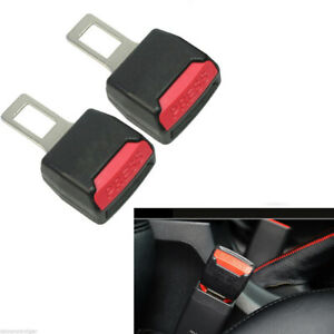 2pcs Auto Car Safety Seat Belt Buckle Extension Universal Alarm Extender Clip