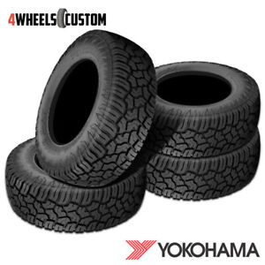 4 X New Yokohama Geolander X at Lt265 70r17 121 118q E Tires