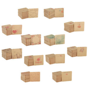 100pcs Earring Card Holder Blank Kraft Paper Tags For Diy Ear Studs Necklace