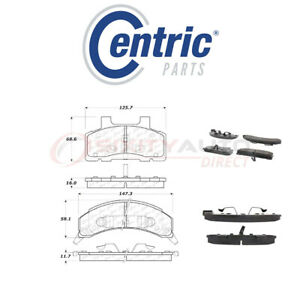 Centric Posi Quiet Metallic Brake Pads W Shims For 1985 1990 Buick Electra Cy