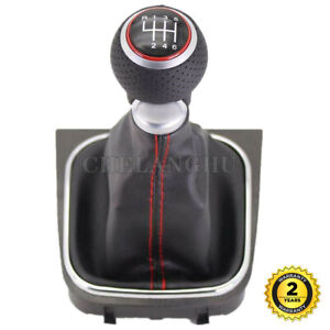 6 Speed Gear Shift Knob For Golf 5 A5 Mk5 Gti Gtd 2004 2005 2006 2007 2008 2009