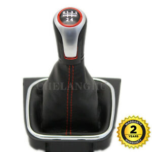 5 Speed Gear Stick Shift Knob For Vw Jetta Gli Golf 5 Mk5 6 Mk6 Gti Gtd R32 R20