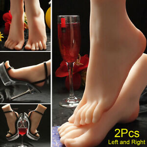 2pcs Left And Right Lifelike Female Feet Shoes Foot Model Display Mannequin 37