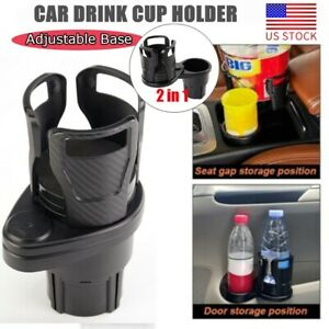 Multifunction Adjustable 2in1 Auto Car Seat Cup Holder Water Bottle Drink Coffee