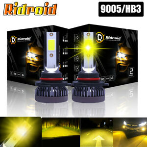 9005 Hb3 Led Headlight Fog Bulb 3000k Golden Yellow Low Beam 22000lm High Power