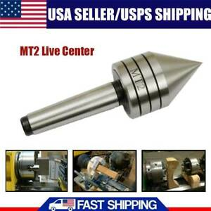 Mt2 60 Live Lathe Steel Bearing Tailstock Center For Metal Wood Turning Tool