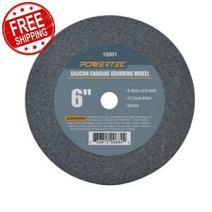 Grinding Wheel 6 X 3 4 X 1 2 60 Grit Silicon Carbide Bench Grinder Disc Tool