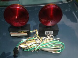 Haul master 12 Volt Magnetic Towing Light Kit just Attach Go No Installation