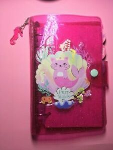 Paperchase Cute Pink Jelly Pvc A6 Cat Mermaid Ringbound Academic Planner Undated