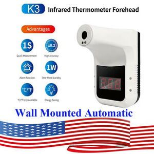 Us Wall Mounted Automatic Digital Infrared Non contact Forehead Thermometer