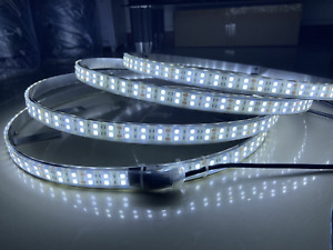 Double Row 17 5 Switch Ctrl Strobe Wheel Rings Lights Pure Solid Color White