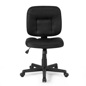 Computer Chair Mesh Back Design Adjustable Task Chair Armless Office Furniture