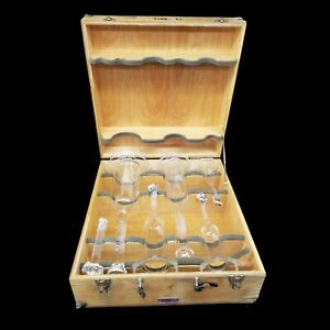 Vintage Sga Scientific Glass 6 Piece Flask Set Laboratory Glassware W case 3