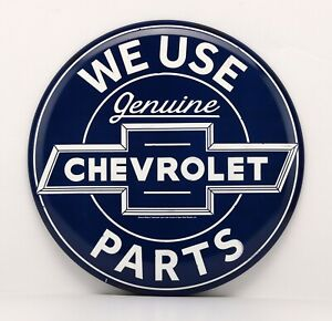 14 Collectible Chevrolet Genuine Parts Logo Round Tin Sign Open Road 90169772