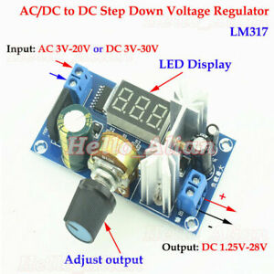 Ac dc To Dc Buck Adjustable Step Down Volt Converter 3 3v 5v 12v 24v Regulator