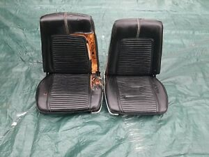 66 67 Dodge Charger Coronet Bucket Seat Cores Wow Rare With All Trim