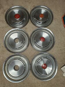 1956 Buick Century Hubcaps 56 Red Center Caps Wheel Covers Set Of 6 Total
