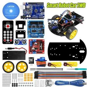 Smart Robot Car 2wd Chassis Kit With Ultrasonic Module Remote For Arduino Uno