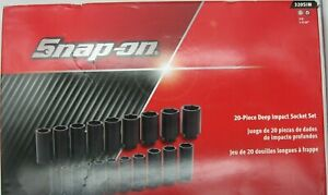 Brand New Snap On Set 320sim Sae 6pt 20 Piece Deep Impact Set
