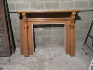 Antique Carved Oak Fireplace Mantel 65 X 47 Architectural Salvage