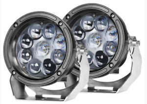 Pair Cree 5 5inch Led Driving Lights Round Spot Off Road 4wd Work Suv Spotlights