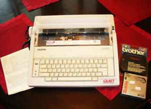 Brother Ax 400 Perfectype Electronic Dictionary Typewriter Ink Tested