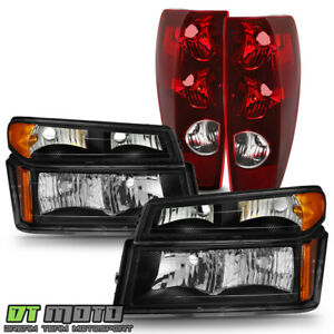2004 2012 Chevy Colorado Gmc Canyon Black Headlights Parking Signal Tail Lights