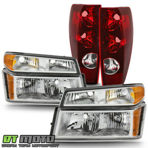 2004 2012 Chevy Colorado canyon Chrome Headlights W Parking Lamps tail Lights