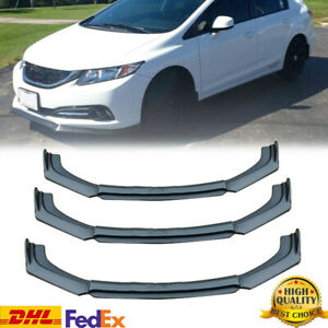 Mattke Black Front Bumper Lip Splitter For 2013 2015 9th Honda Civic Sedan Si Us