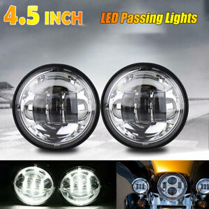 4 5 Inch 60w Round Led Light Waterproof Fog Driving Lamps For Offroad Truck Us