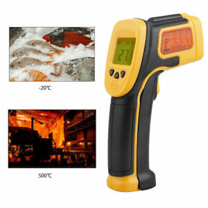 Ir Infrared Laser Lcd Digital Thermometer Gun Temperature Heat Thermal Sensor