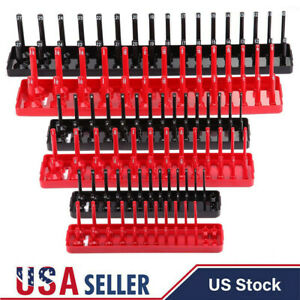 6pcs Socket Organizer Tray Rack Storage Holder Tool Metric Sae 1 4 3 8 1 2
