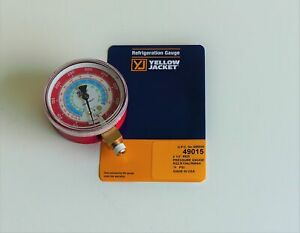 Yellow Jacket 49015 Red Manifold High Pressure Gauge 2 1 2 R22 R134a R404a