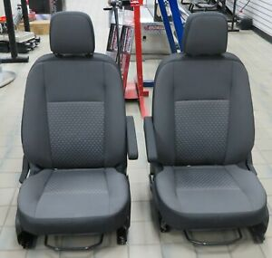 2020 Ford Transit 150 250 350 Van Pair Dk Gray Cloth Manual Bucket Seats