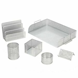 Desk Organizer 6 Piece Set Includes Letter Tray Letter Sorter Etc For Charity