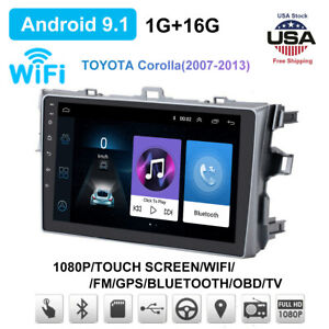 For Toyota Corolla 2006 2012 Gps Navigation Android 9 1 Car Stereo Radio Wifi Ut