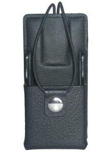 Leather Carry Case Holster For Motorola Ht1000 Two Way Radio