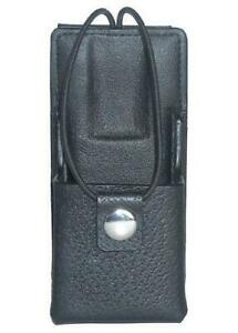 Leather Carry Case Holster For Motorola Saber 2 Two Way Radio