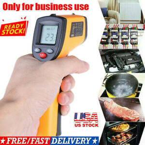 Non Contact Digital Ir Infrared Temperature Pyrometer Industrial Gun Thermometer