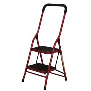 Protable 2 Step Ladder Folding Non Slip Safety Tread Heavy Duty Industrial Home