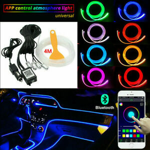 Rgb Led Car Interior Fiber Optic Neon El Wire Strip Light Wire Atmosphere App Us