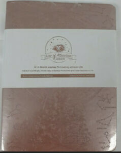 Law Of Attraction Undated 12 Month Daily Life Planner Pink Gold Softcover New