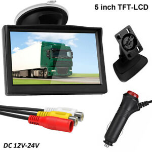 5 800 480 Tft Lcd Hd Screen Rca Rearview Monitor For Vehicle Car Reverse Camera